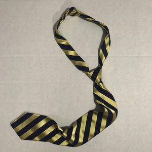 Navy Blue and Gold Nautica Tie, Silk